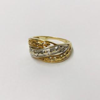 10K White & Yellow Gold Ring