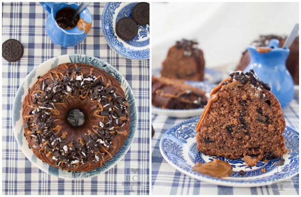 NUTELLA, DULCE DE LECHE & OREO BUNDT CAKE