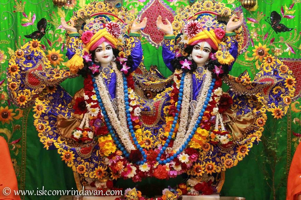 ISKCON Vrindavan Sringar Deity Darshan 01 Mar 2016 (1)