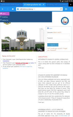 University Of Ibadan Change In Date Of Course Increased 2017/2018 Aspirants