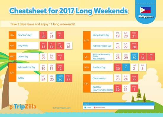 Long Weekends 2017