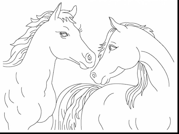 Excellent Realistic Horse Coloring Pages With Printable Horse Coloring Pages  And Printable Horse Jumping Coloring Pages