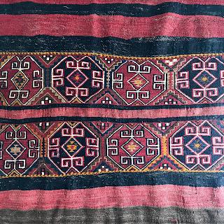 Hand-Woven Wool Kilim Area Rug