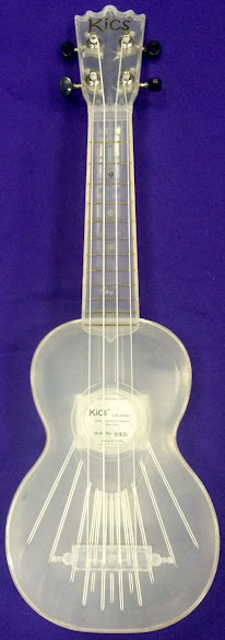 Woodi Kics vols see through plastic soprano ukulele
