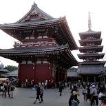 sensoji temple in asakusa in Asakusa, Tokyo, Japan