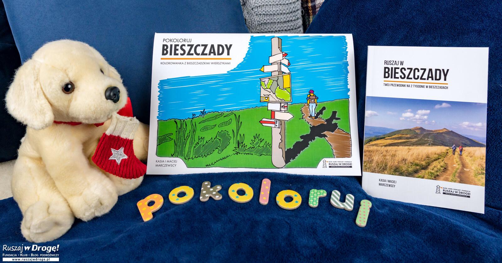 ZESTAW: Przewodnik Ruszaj w Bieszczady + Kolorowanka Pokoloruj Bieszczady