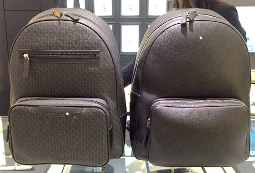 The Mont Blanc Signature Black Rucksack is shown above on the left, and the Meisterstück  Soft Grain Backpack Black is shown above on the right. 8ef1fc9f3b