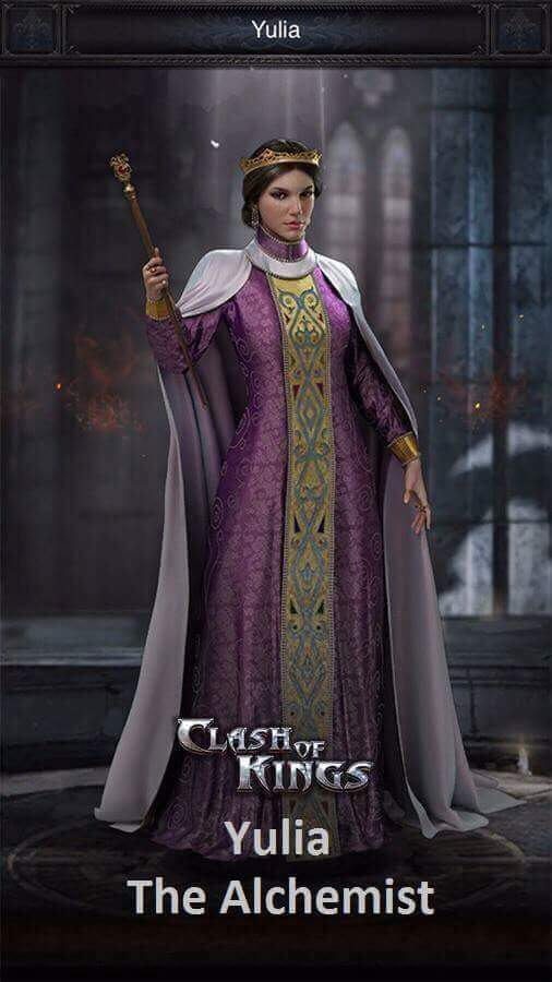 Clash of Kings Yeni Kahraman Yulia Özellikleri