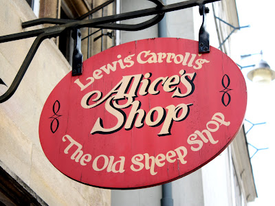 Alice in Wonderland shop in Oxford