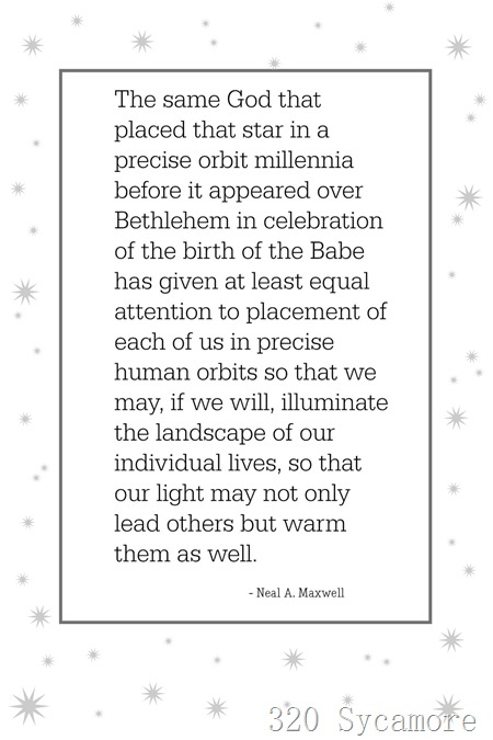 maxwell quote with stars