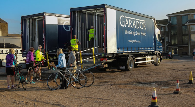 Garador lorries on Coast to Coast Charity Cycle Ride 2016