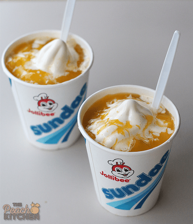 Weekends with Jollibee Peach and Mango Sundae
