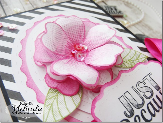 FSJ Fun Stampers Journey Flower Stamp Card Idea