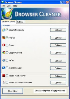 Delete browsing history cookies cache and session for Browser cookies