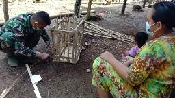 Potensi  UMKM Terbuat dari Bambu  di Desa Siuhom, TMMD Tapsel