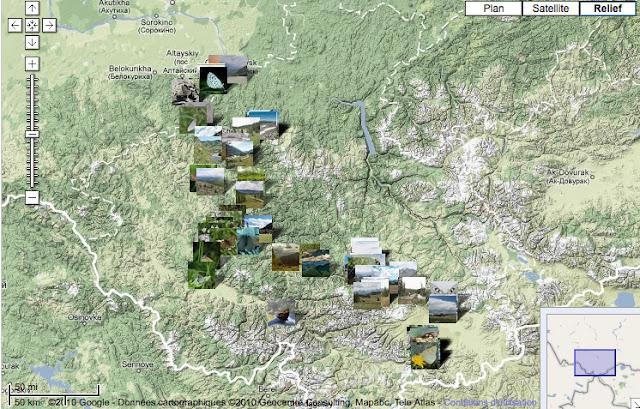 Altaï : localisation des photos
