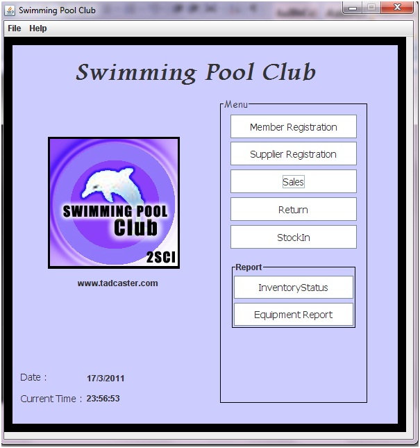 E Swimming Pool Management System March 2011