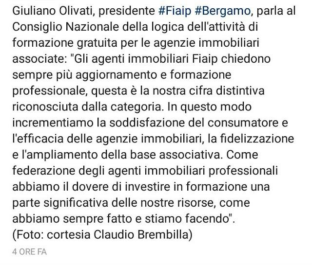 Olivati presidente Fiaip Bergamo
