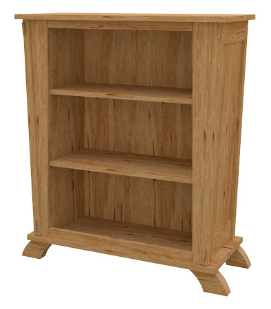 Baroque Standard Bookshelf in Classical Maple