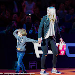 STUTTGART, GERMANY - APRIL 18 : Carina Witthöft at the 2016 Porsche Tennis Grand Prix players introduction
