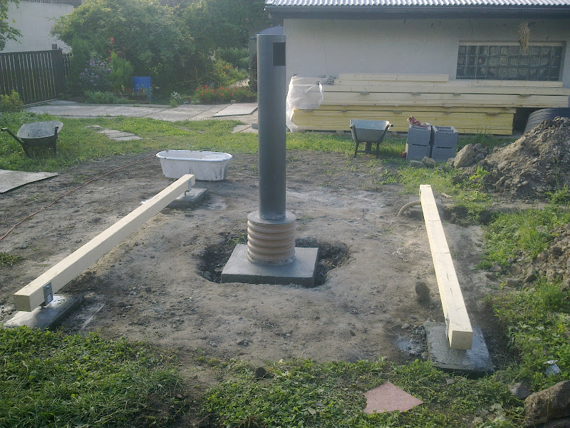 Dest pri betonovani