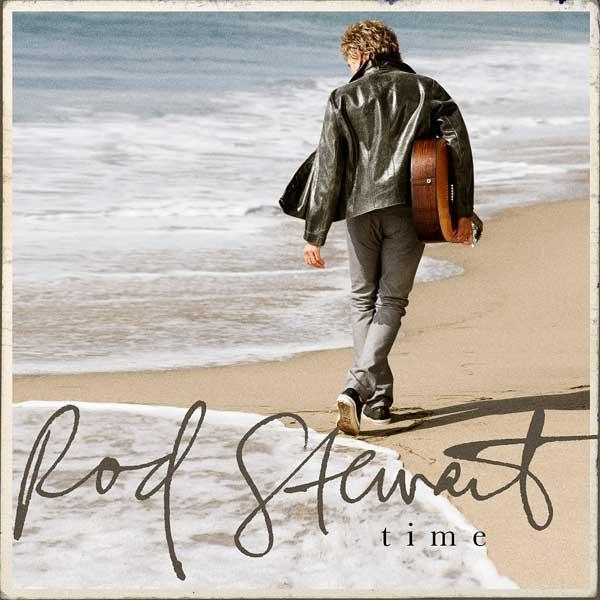 La portada del disco Time de Rod Stewart