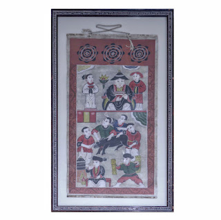 19th C. Asian Scroll Painting #1
