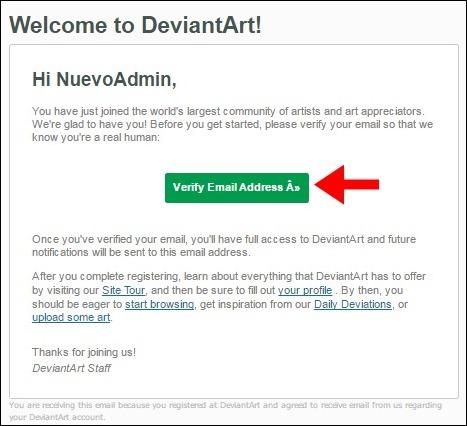 Abrir mi cuenta DeviantArt - 503