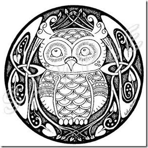 dibujos de buhod en blanco y negro (10)