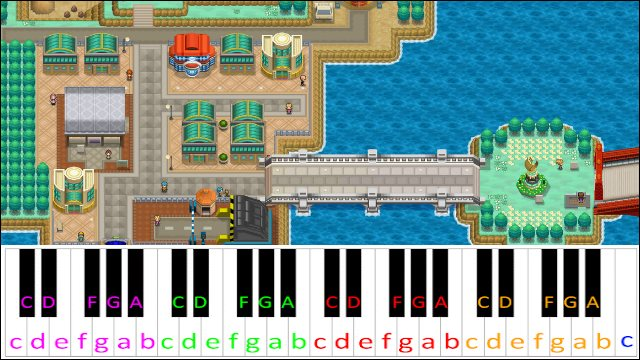 Driftveil City Pokemon Black White Piano Letter Notes Piano chords and guitar chords. driftveil city pokemon black white