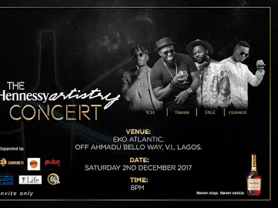 Olamide, Falz, Timaya, Ycee To Headline Hennessy Artistry 2017 Concert This December