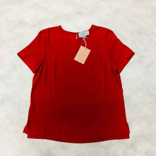 Pearl by Lela Rose Red Blouse