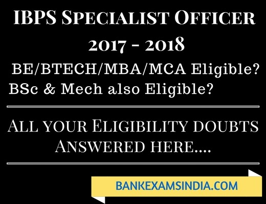 IBPS Specialist Officer 2018
