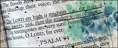 Bible Art-Ps 93-4-Mightier than the Waves