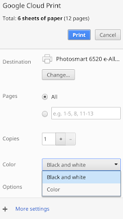 When You Go To Print Do See A Panel That Looks Similar The One Below With Drop Down Menu Beside Color If Not Could Please Post Screen
