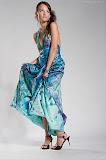 – MARINA saténové šaty ručně malované - orientační cena 10.000,-Kč foto: Petr Kuchař