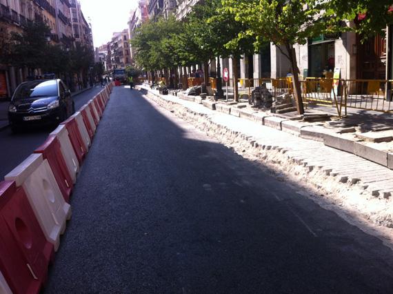 Ya han empezado las obras del eje ciclista Mayor-Alcalá