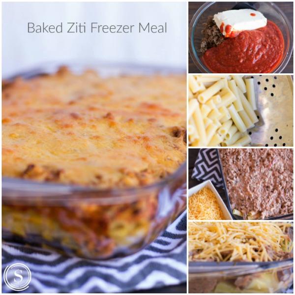 Baked Ziti Freezer Mea