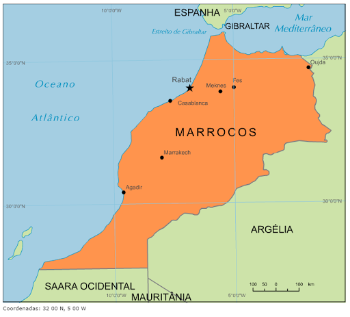 marrocos no mapa Blog de Geografia: Mapa de Marrocos marrocos no mapa