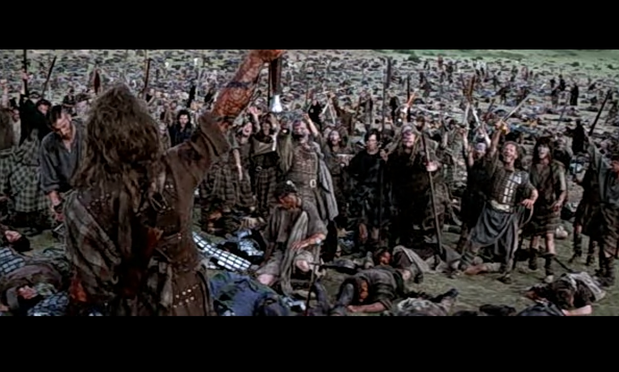 a summary of the last scene in braveheart Learn the major plot points and story structure of braveheart directed by mel   third plot point: the battle of falkirk is lost, and wallace discovers the bruce.