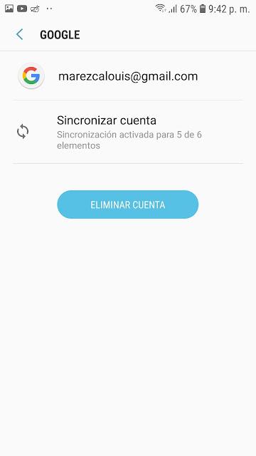 eliminar cuenta de Google desde Android samsung j2 prime