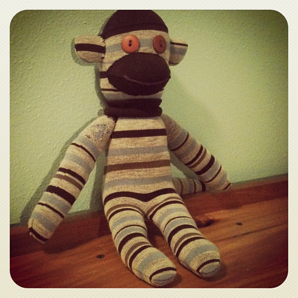 sock monkey for Craft Hope