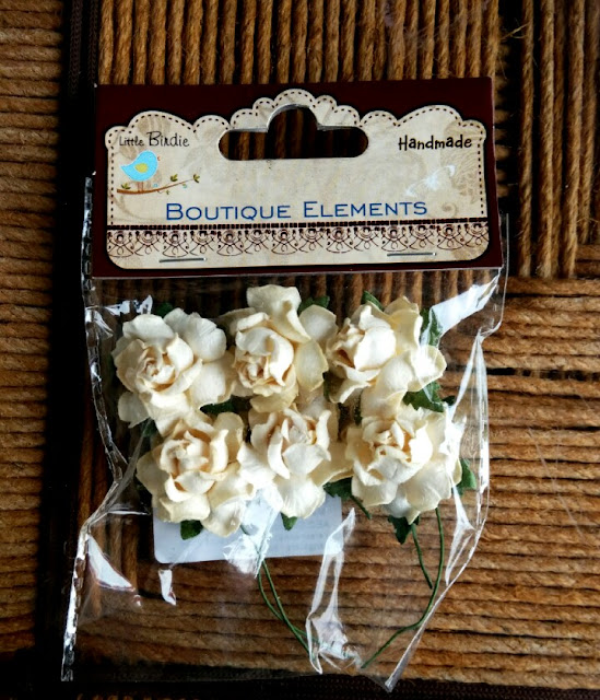 hand-made card , handmade flowers