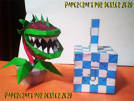 Plants Vs Zombies Chomper Papercraft