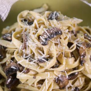 Mushroom Fettuccine Alfredo