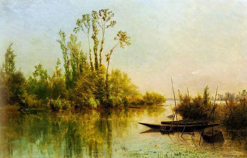 Charles Daubigny - Les Iles Vierges a Bezons