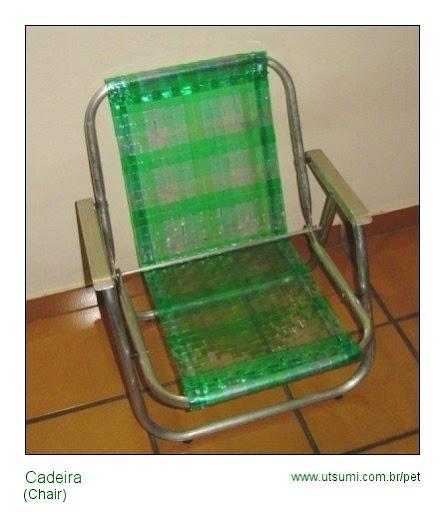 cadeira de garrafa PET
