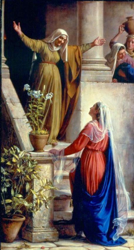 Carl Bloch - Mary and Elizabeth