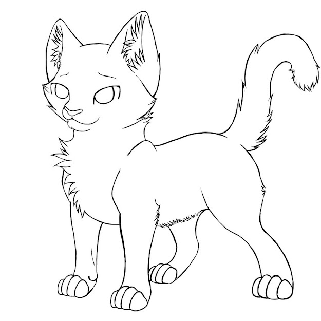 Cat Coloring Pages Online  Printable  Warrior Cat Coloring Pages