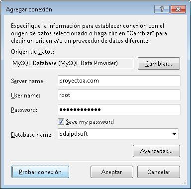Agregar conexión a MySQL Server desde el IDE de VB.Net, crear tablas y relaciones desde el Diseñador de tablas